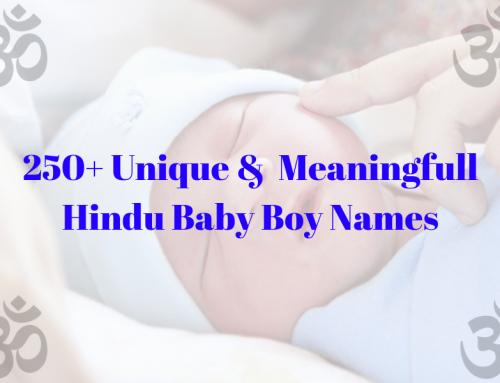 250+ Unique Hindu Baby Boy Names