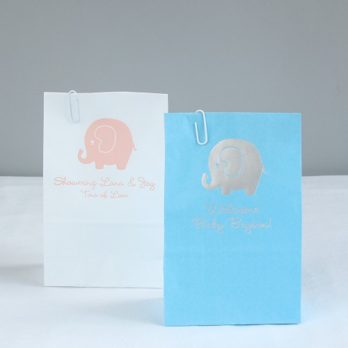 Elephant Baby Shower Theme announcement Decorations & Favor Bags Ideas 29