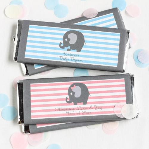 Elephant Baby Shower Theme announcement Decorations & Favor Bags Ideas 31