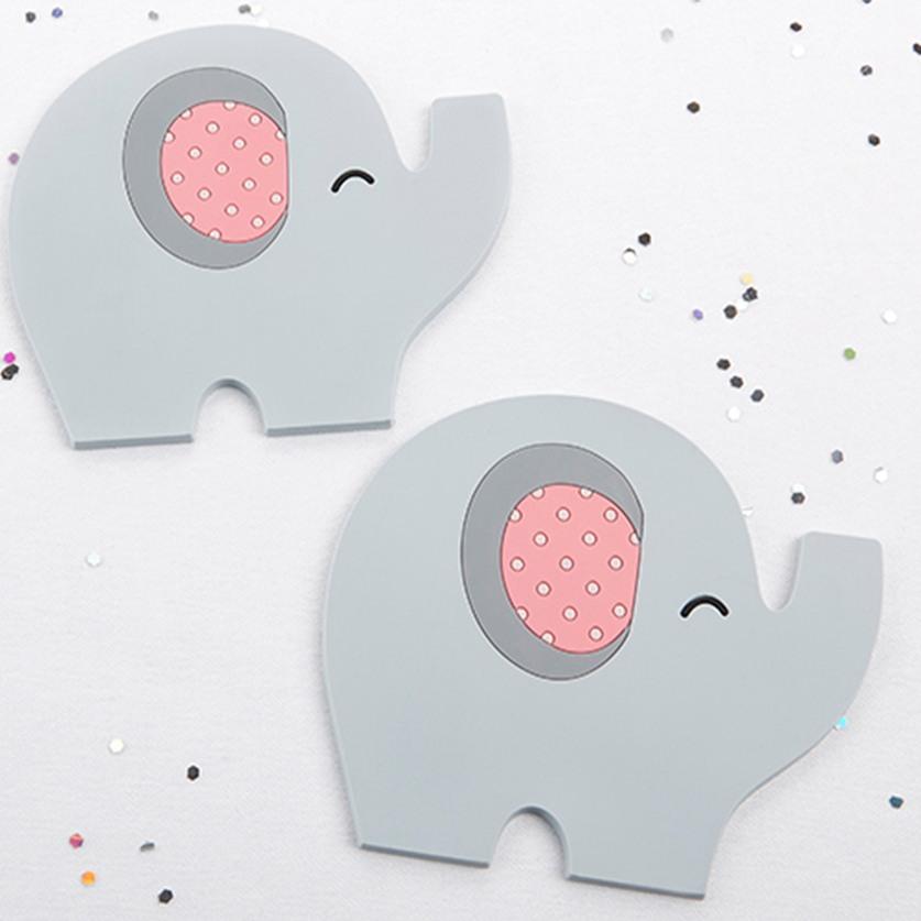 Elephant Baby Shower Theme announcement Decorations & Favor Bags Ideas 40