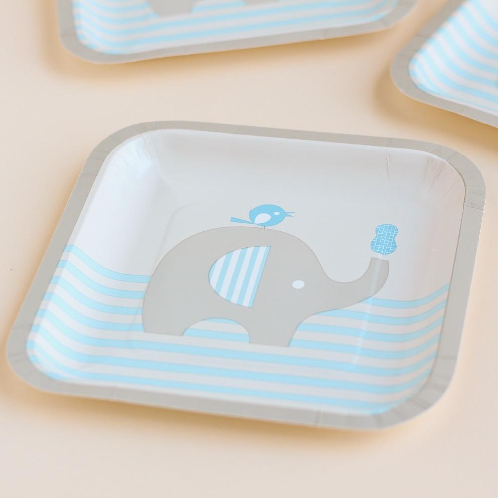 Elephant Baby Shower Theme announcement Decorations & Favor Bags Ideas 41