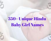 350+ Unique Hindu Baby Girl Names